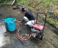 配管のつまり修理(高圧洗浄機使用)