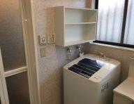 洗濯機上オープン棚<br /> あるとやっぱり便利です