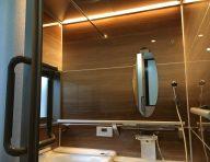 LEDライン照明<br /> 天井に沿ったライン状の照明で、浴室全体を上質に演出します。